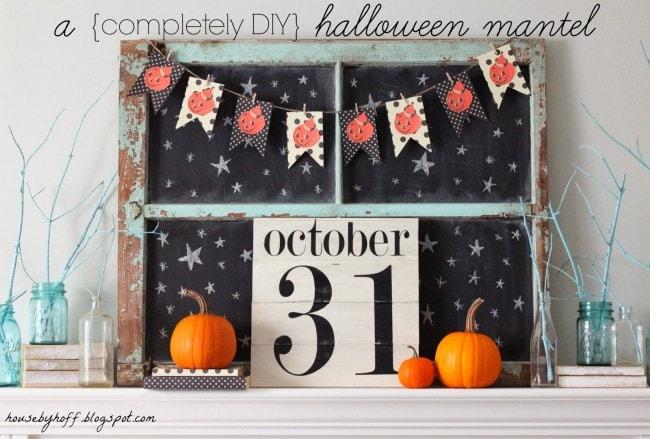 House by Hoff Halloween Mantel