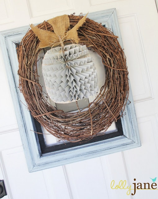 Lolly Jane DIY Framed Pumpkin Wreath