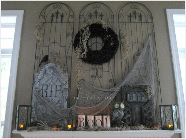 Madeinaday Halloween Mantel