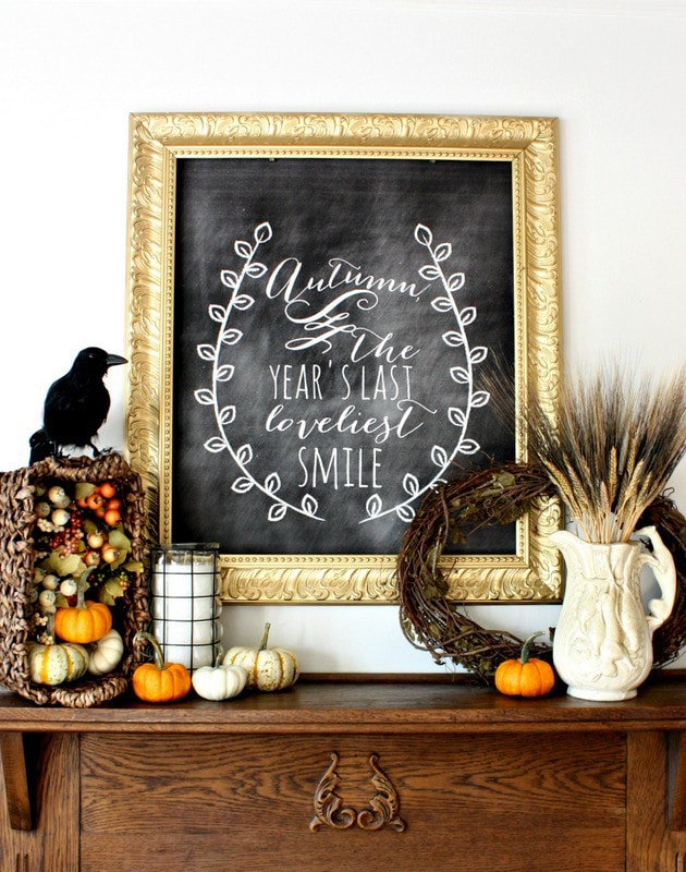 Nest of Posies Fall Mantel