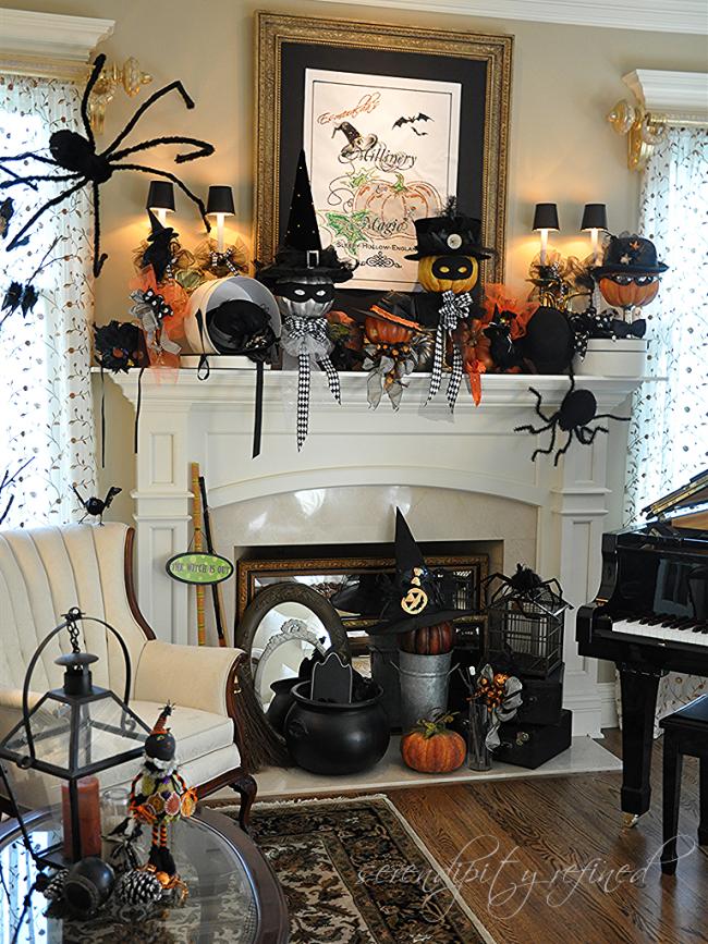 Serendipity Redefined Halloween Mantel