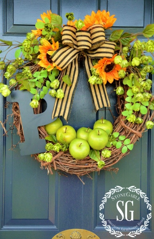 Stonegable DIY Early Fall Apple Wreath