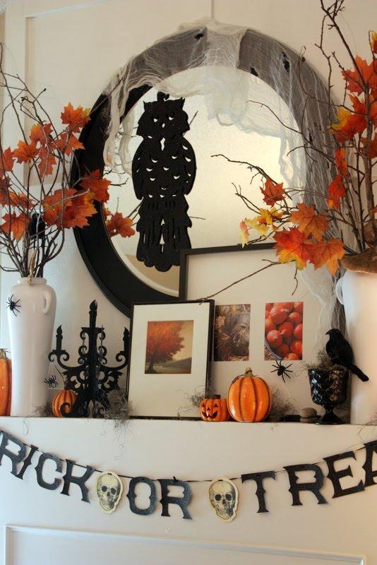 Sweet Something Design Halloween Mantel