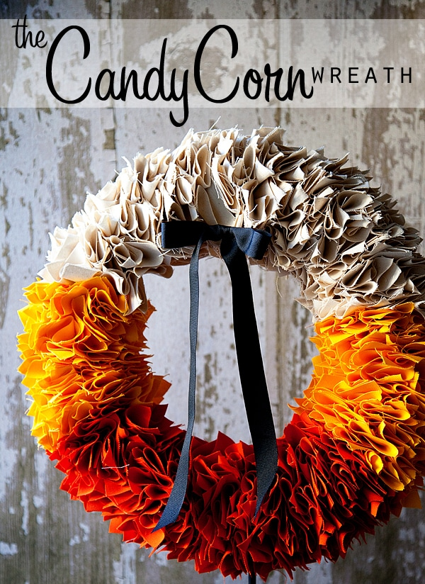 The House of Smiths DIY Candy Corn Wreath