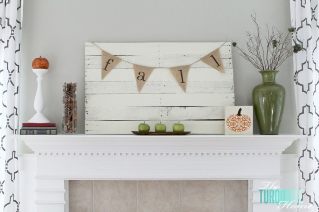 The Turquoise Home Fall Mantel