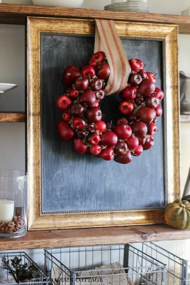 The Wood Grain Cottage DIY Apple Fall Wreath