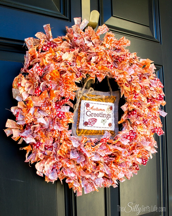 This Silly Girl's Kitchen Fabric Scrap Fall Wreath