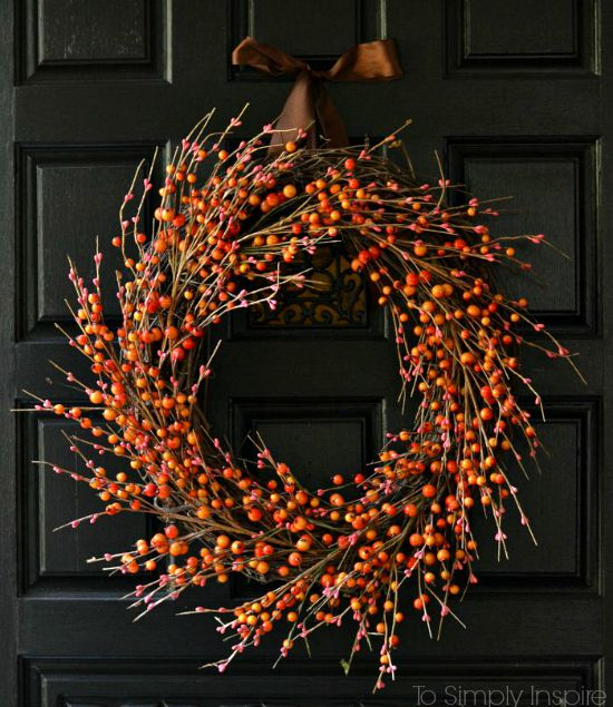 To Simply Inspire DIY Easy Fall Wreath