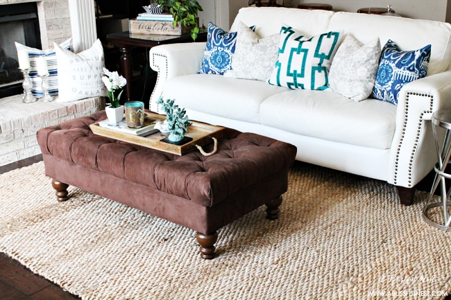 Use natural fiber rugs to add texture to a room