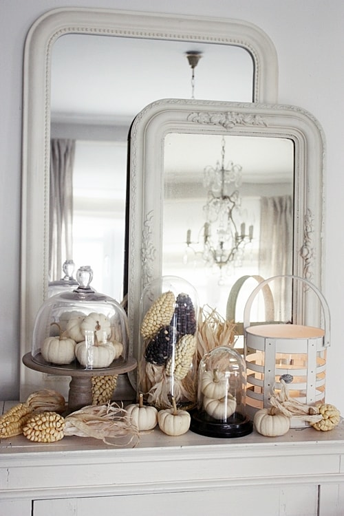 White Living Fall Mantel