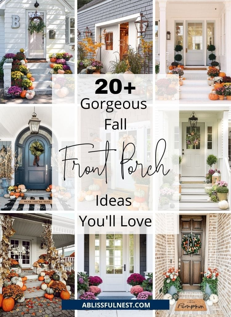 20+ Gorgeous Fall Front Porch Ideas You'll Love