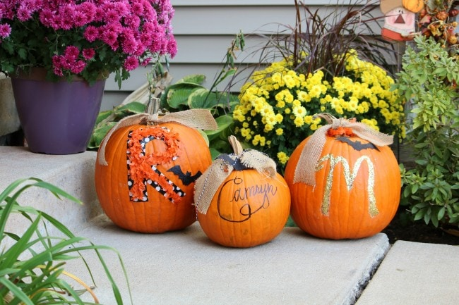 No Carve Pumpkin Ideas via A Blissful Nest