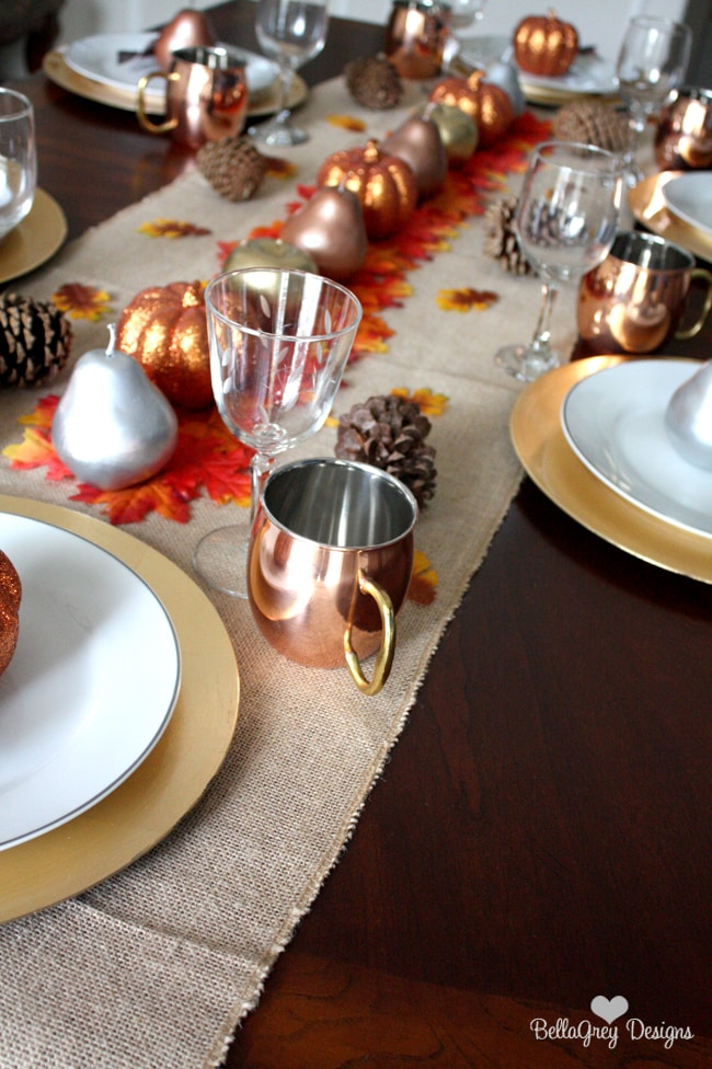 Autumn Dinner Party Ideas Part - 17: Fall Dinner Party Ideas Using Metallics By Bella Grey Designs Via  Www.ablissfulnest.com