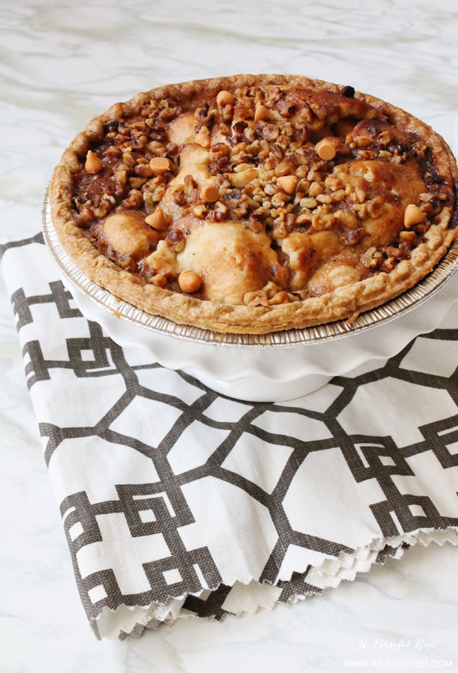 We've got a twist on the classic pumpkin pie recipe with butterscotch chips and apples - YUM!