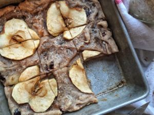Spiced Apple Cranberry Blondies Recipe