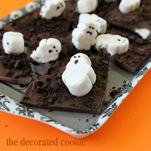 Ghostly Chocolate Bark