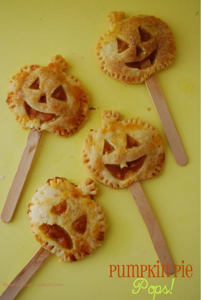 Pumpkin Pie Pops