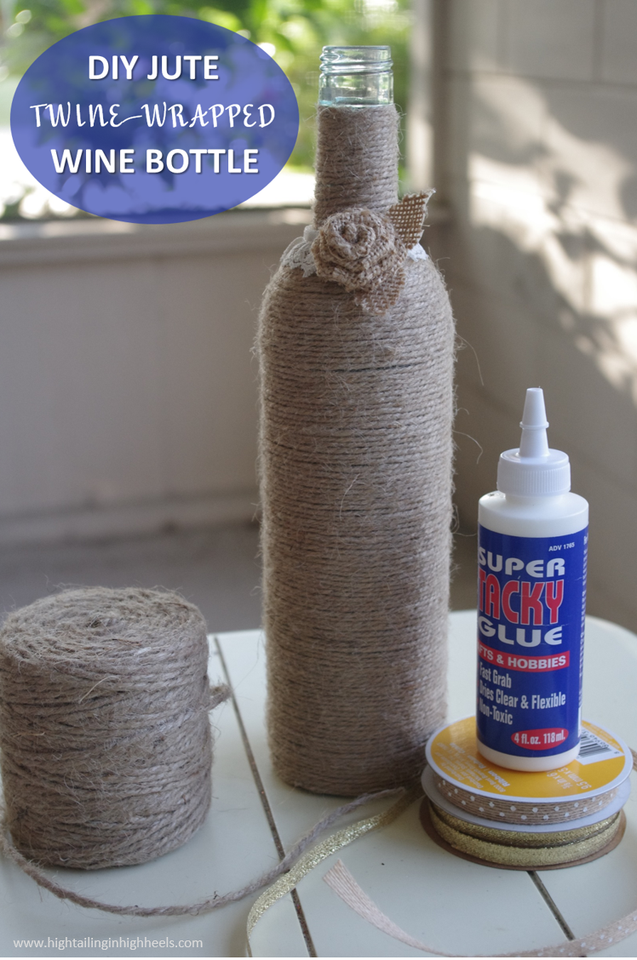 Upcylced Diy Twine Wine Bottle Tutorial