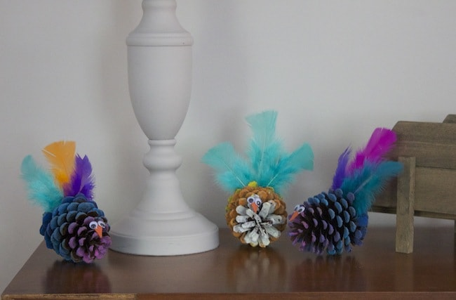 DIY Turkey PineCone Tutorial For The Kids
