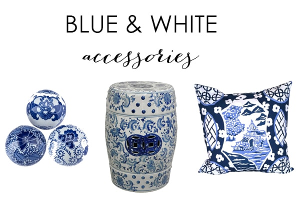 My Favorite Blue and White Accessories