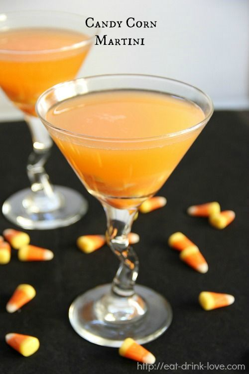 Candy Corn Martini Cocktail