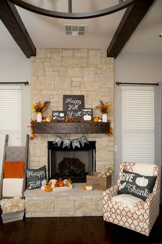 Fall Mantel Ideas by Lillian Hope Designs