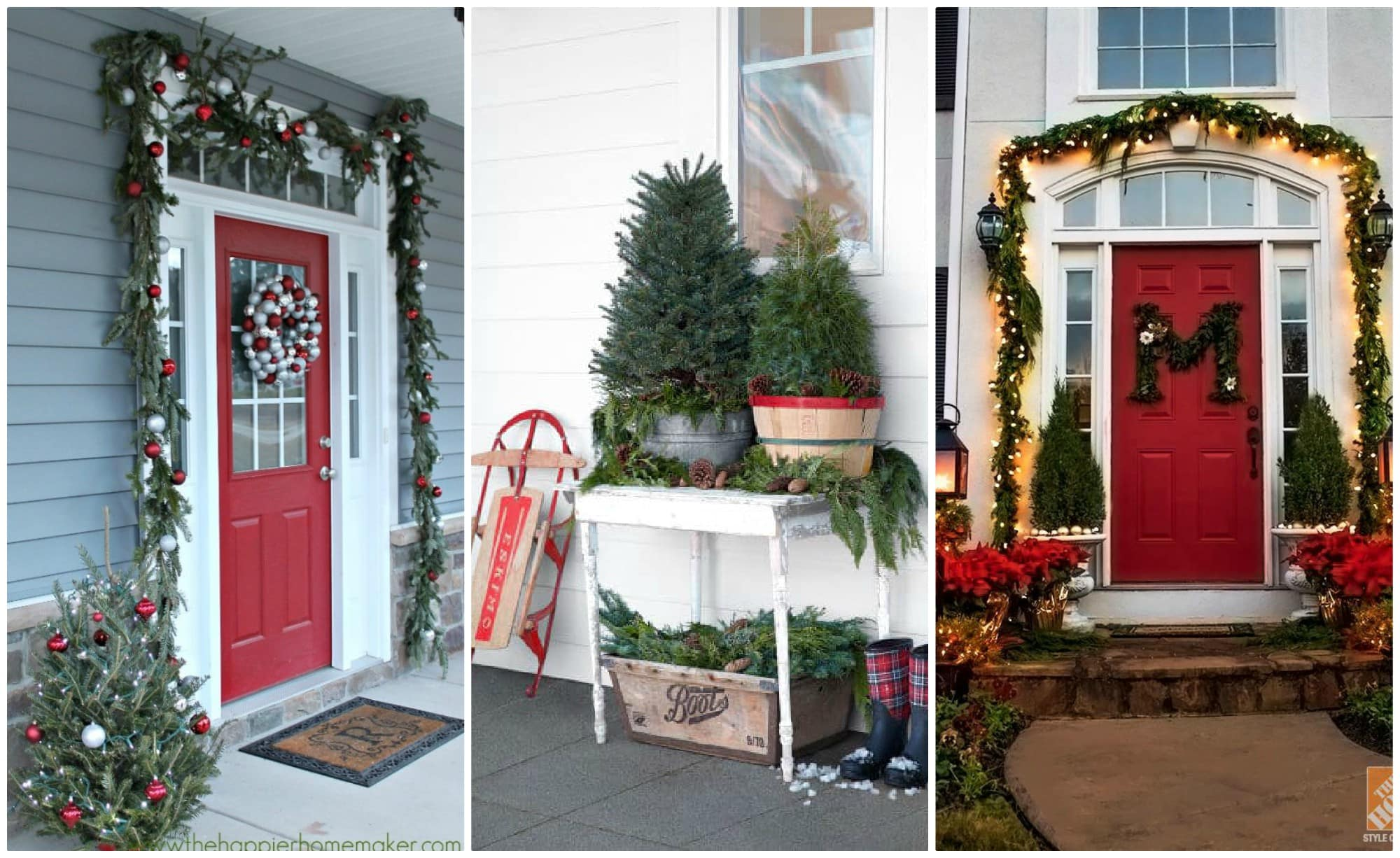 Christmas Porches Home Design