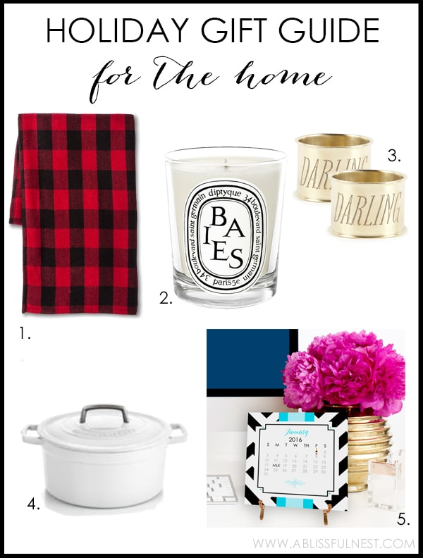 2015 Holiday Gift Guide for the best home gifts! - www.ablissfulnest.com