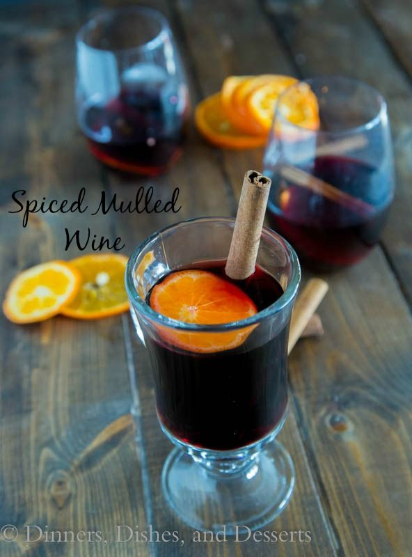 Spiced Mulled Wine Drink Recipe