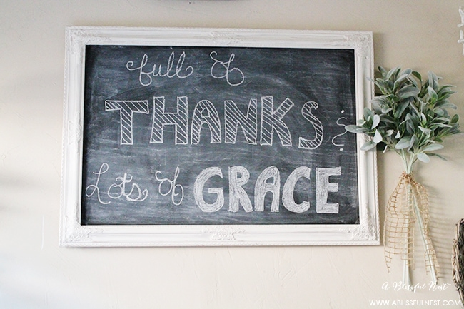 A beautiful reminder to give thanks and have lots of grace!