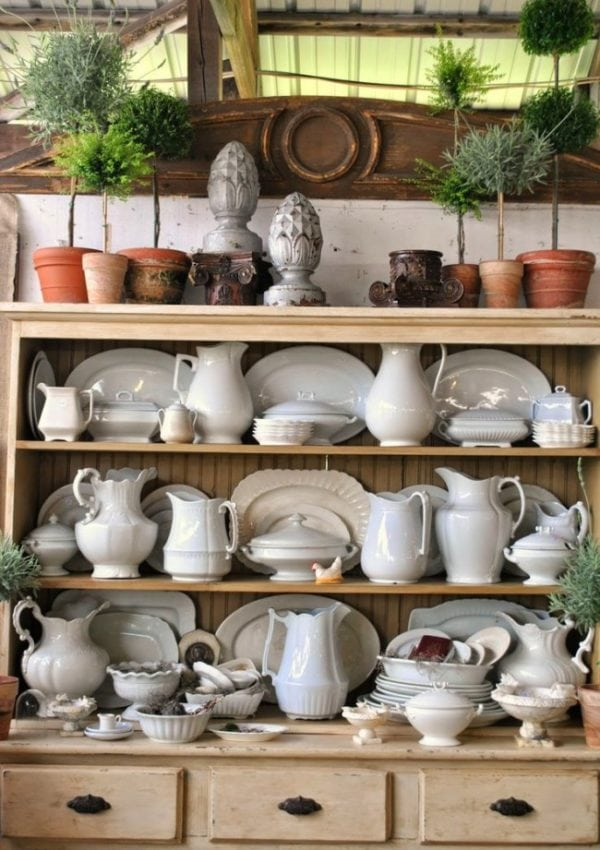 How To Decorate with Ironstone Pitchers