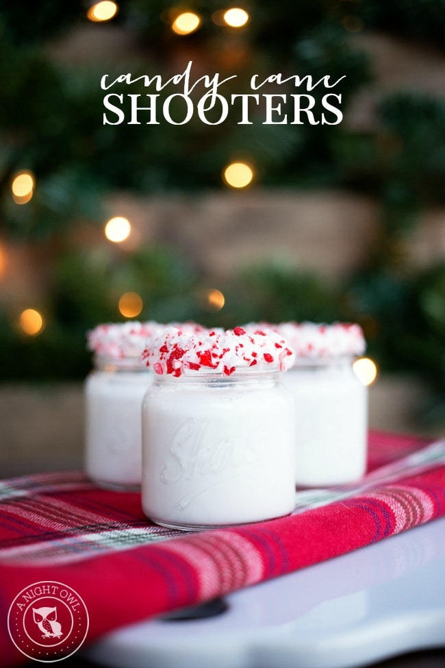 Candy Cane Shooters Holiday Cocktail