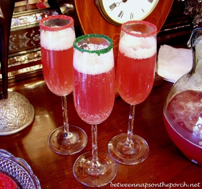 Champagne Punch Holiday Cocktail
