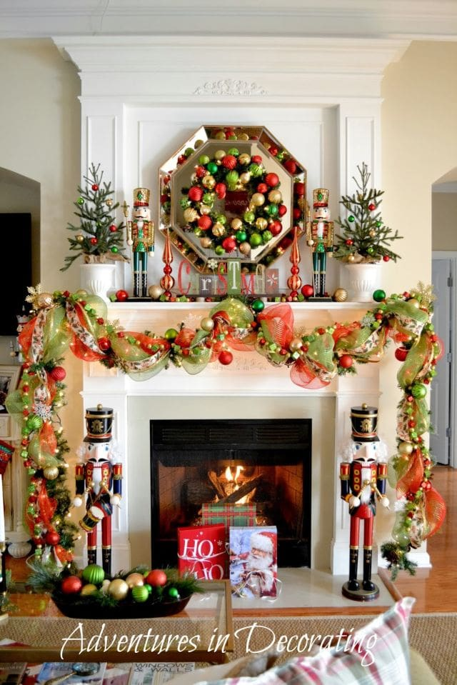 Christmas Mantels - Adventures in Decorating