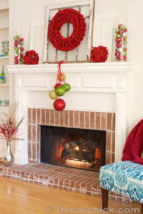 20 Festive Christmas Mantel Decorating Ideas A Blissful Nest