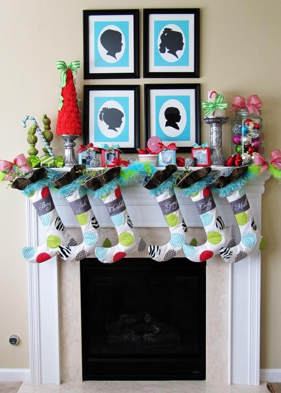Christmas Mantel Positively Splendid