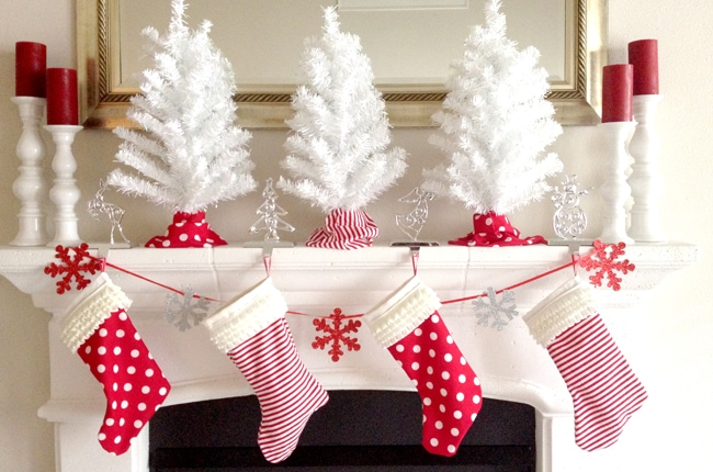 Diy Christmas Stockings For Your Holiday Mantel A Blissful