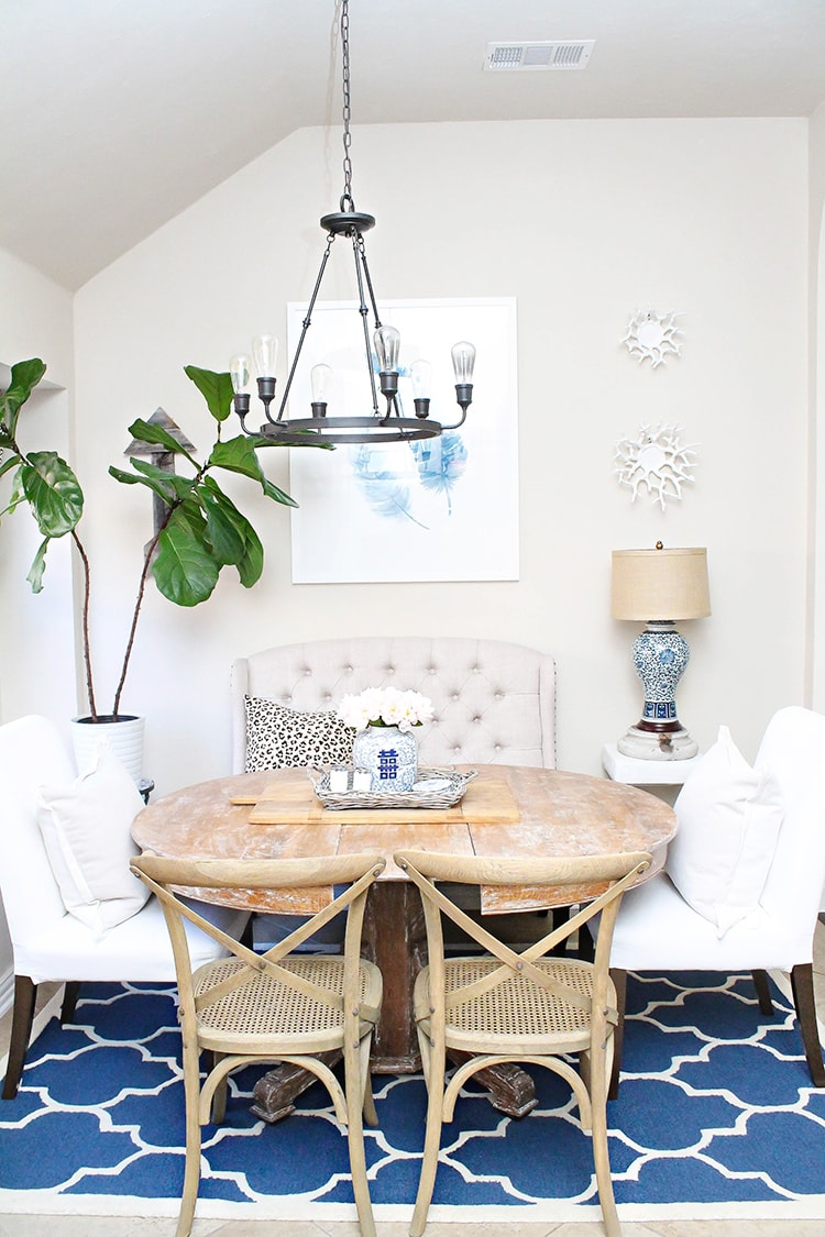 our breakfast room design home tour a blissful nest