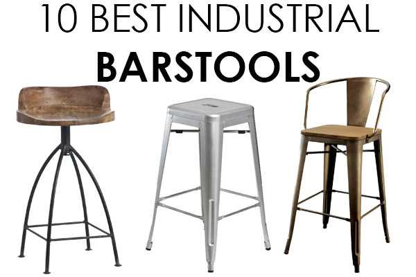 10 gorgeous vintage industrial barstools to give your home that farmhouse touch on ablissfulnest.com