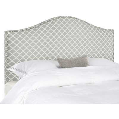 Cool This modern design is gorgeous on this headboard with the nailheads WE uve rounded