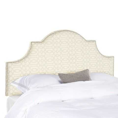 The pattern on this headboard is so beautiful! It comes in a variety of colors and the shape and fabric are sure to make this a statement piece.
