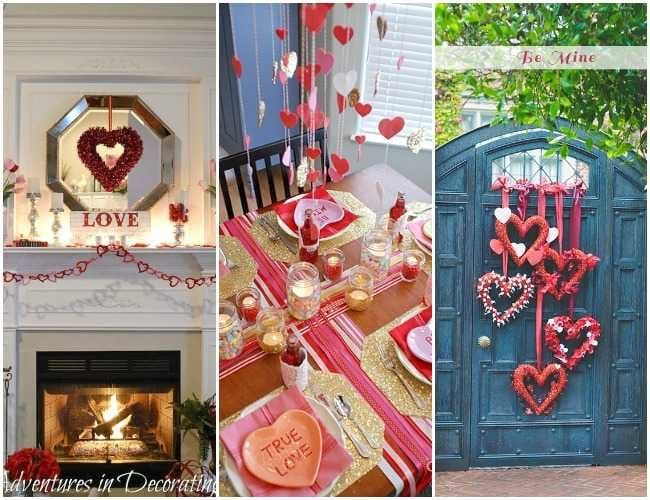 25 Best Valentines Day home decor ideas to help you get your home decorated for the holiday.