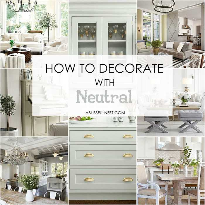 Love neutral farmhouse style colors? Then we've got THE BEST neutral paint colors for you and how to decorate with them. #neutralpaintcolors #bestneutralpaintcolor #farmhouse #farmhousestyle https://ablissfulnest.com