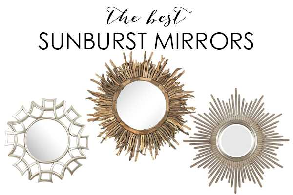 The best sunburst mirrors to add that touch of design style to your home at a affordable price on ablissfulnest.com