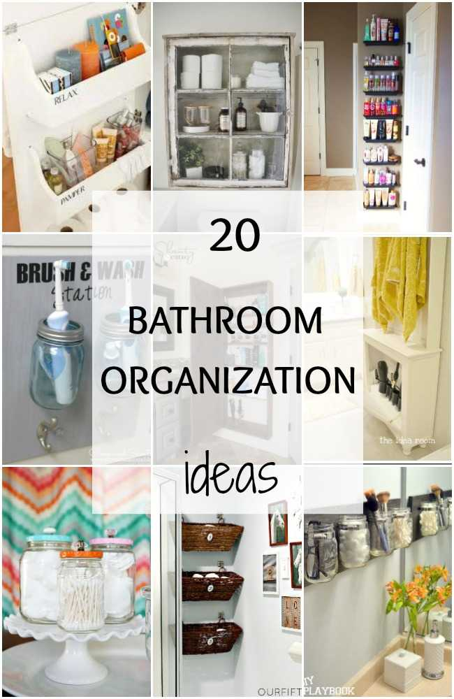 Inspirational  Bathroom Organization Ideas