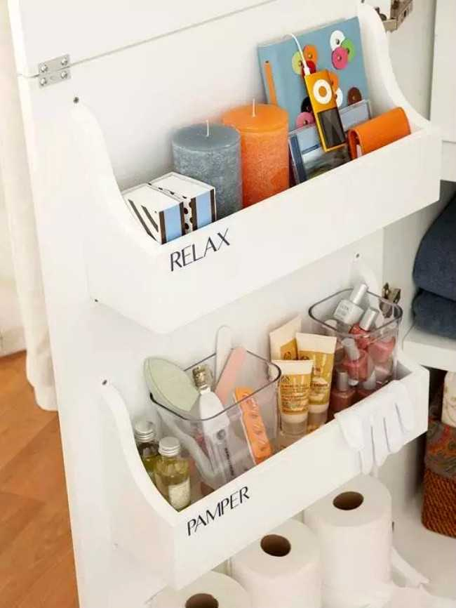 Bathroom Cabinet Door Storage Bins 20 Bathroom Organization Ideas