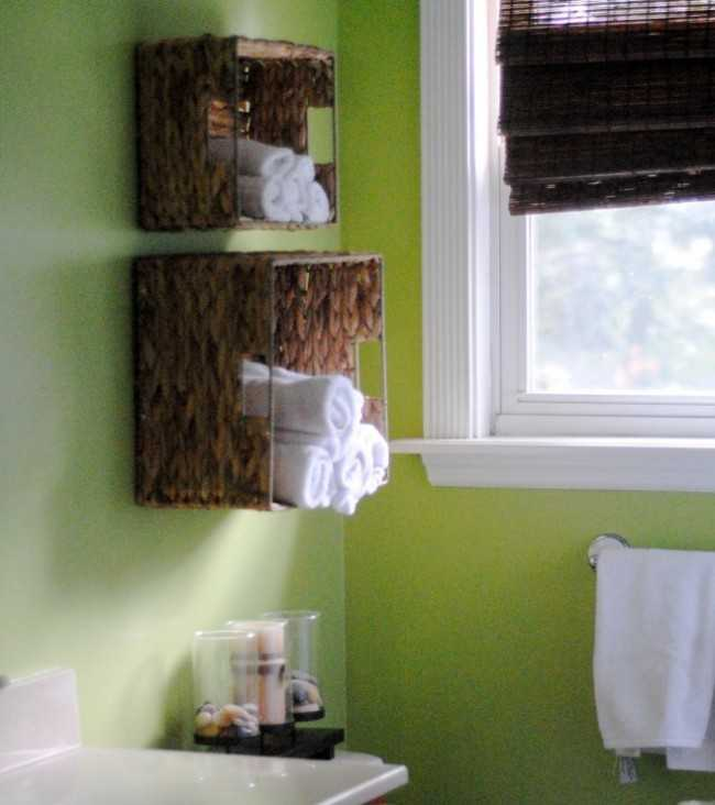Bathroom Towel Storage by Making Lemonade