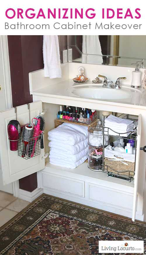 Declutter the Bathroom Cabinet by Living Locurto