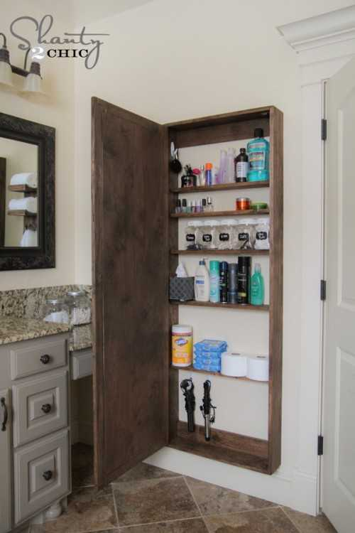Unique Mirrored Medicine Cabinet Bathroom Organization Ideas