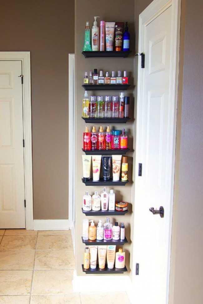 Crown Molding Picture Frame Shelves 20 Bathroom Organization Ideas